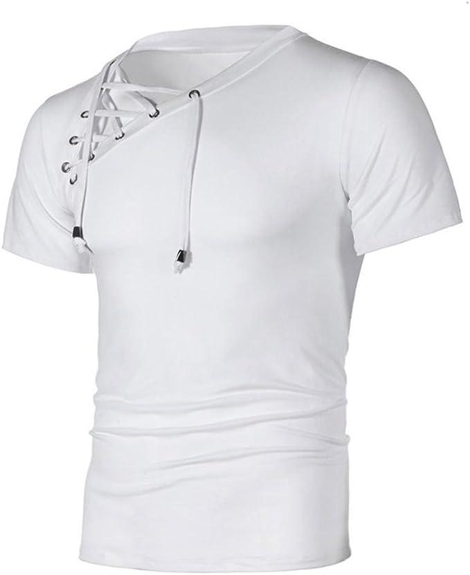 T-Shirt Uomo Sportivi Vintage Slim Fit Cotone Stretch Maglione Uomo Tumblr Estiva Particolari Magliette Corte Homebaby/® Camicia Uomo Elegante Maglietta Manica Corta Casual
