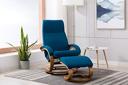 Rissanti 3050-Denim Blue Amalfi Manual Ottoman Swivel Recliner, Denim (Recliner Chair Stressless Ekornes)