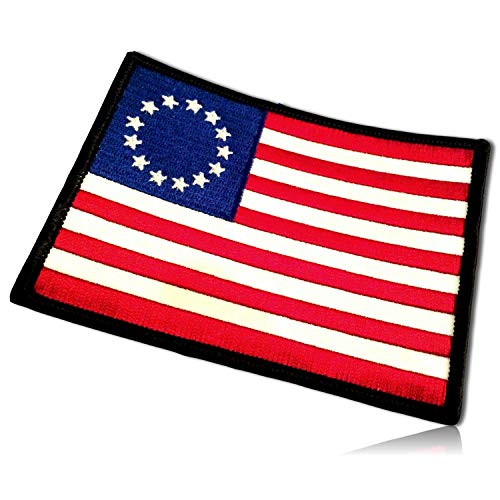 Betsy Ross American 1776 USA 13 Original Colonies United States of America Patriotism Patriotic Patriot Flag Hook & Loop Fastener Patch [4.25
