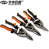 HUAFENG BIG ARROW 3PC Aviation Tin Snips Set Straight Cutter Left Cutter Right Cutter Metal Cutter 3PC Set