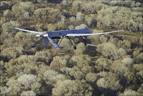 24x36 Poster . Mq-1 Predator Uav Drone 163Rd Reconnaissance Wing