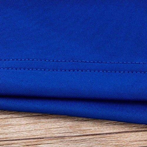 FNKDOR Vestido sin mangas de la falda del lápiz de las mujeres hueco sin mangas atractivo Azul