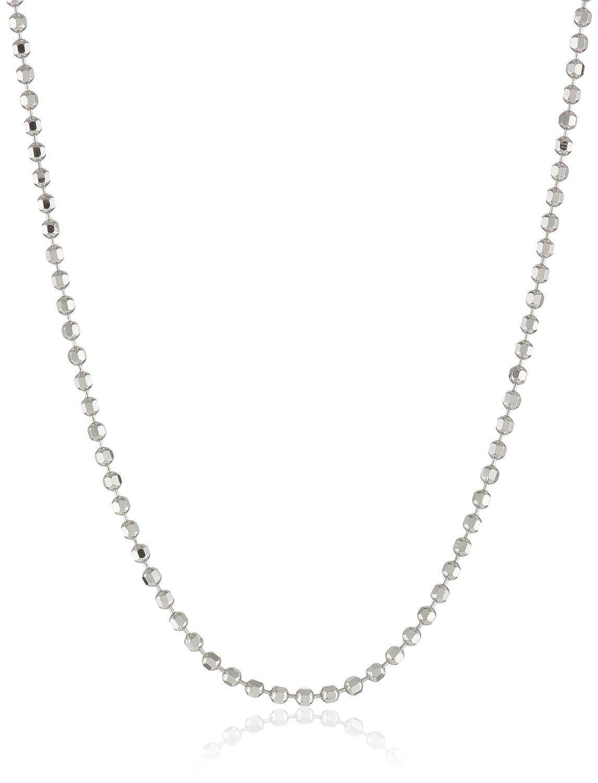 Sterling Silver Girls .8mm Box Chain Baby Bib Pendant Necklace