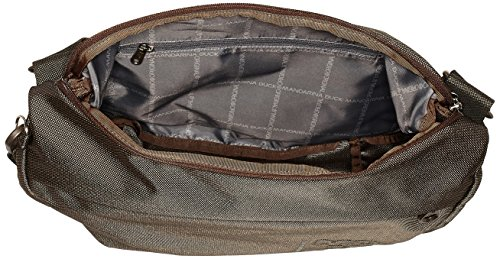 T y hombro de 11x27x35 B x cm Mujer H Shoppers Md20 Pirite Duck Marrón Tracolla Mandarina bolsos nIwUqpaU0