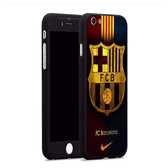 Full Body 360 Hard Plastic Phone CASE Covers for iPhone Xs X 8 7 6 6S Barcelona Spain Soccer Team (6/6S)