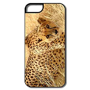 IPhone 5/5S Cover, Cheetah Wildlife White/black Covers For IPhone 5/5S by Maris's Diary