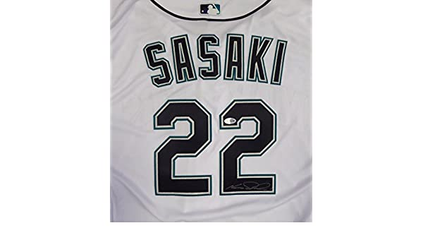 1685952c5 Seattle Mariners Kazuhiro Sasaki Autographed White Majestic Authentic Flex  Base Jersey Beckett BAS at Amazon s Sports Collectibles Store