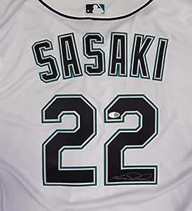 4d099d656 Seattle Mariners Kazuhiro Sasaki Autographed White Majestic ...