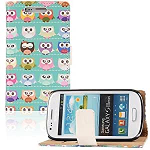QHY Samsung S3 Mini I8190N compatible Graphic PU Leather Full Body Cases