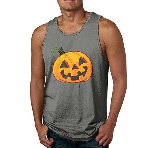 [Halloween Pumpkin - POY-SAIN Fashion Men's Adults Tank Top Sleeveless SizeXXL DeepHeather] (The Sims 3 Costume Chest)