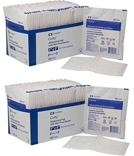 Covidien 9190A Curity Abdominal Pads, Sterile, 5'' x 9'' (2)