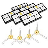Hiwater Replenishement Kit for iRobot Roomba 800 900 Series 805 80 860 80 871 880 890 860 980 Accessories Include:6 Filter, 4 Side Brushes