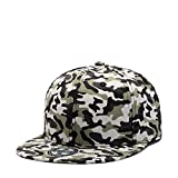 ChezAbbey Solid Flat Brim Hip Hop Adjustable Hat Stylish Snapback Baseball Cap