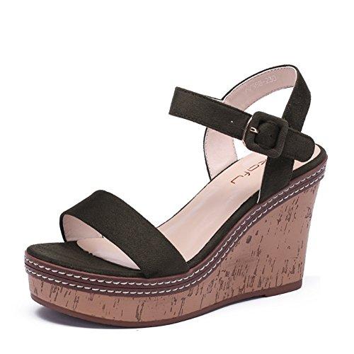 Poe Y Sandalias Estudiantiles/Zapatos Con Suelas Gruesas De Tacones Altos B