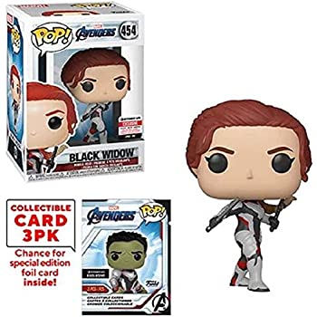 Funko Pop Marvel Avengers Endgame Black Widow Vinyl Figure With Collector Cards Entertainment Earth Exclusive