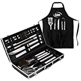 Kaluns BBQ Grill Set 21 Piece Utensil Set, Heavy Duty Stainless Steel Tools, Luxurious and Essential Tools for barbequing, Professional Grilling Acces