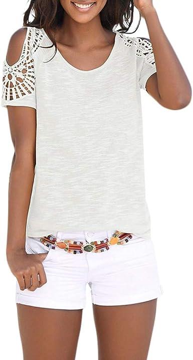 Luckycat Camisetas Mujer Originales Manga Corta Camisetas Mujer Manga Corta Blouse For Women Camisetas Mujer Verano Blusa Mujer Sport Tops Mujer Verano T Shirt Woman Camiseta Blanca Mujer: Amazon.es: Ropa y accesorios
