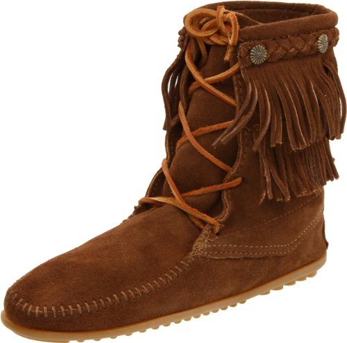 Minnetonka Womens Double Fringe Tramper Boot