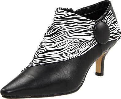 Bella Vita Women's Fairfax II Boot,Black/Zebra Print,7 2A US