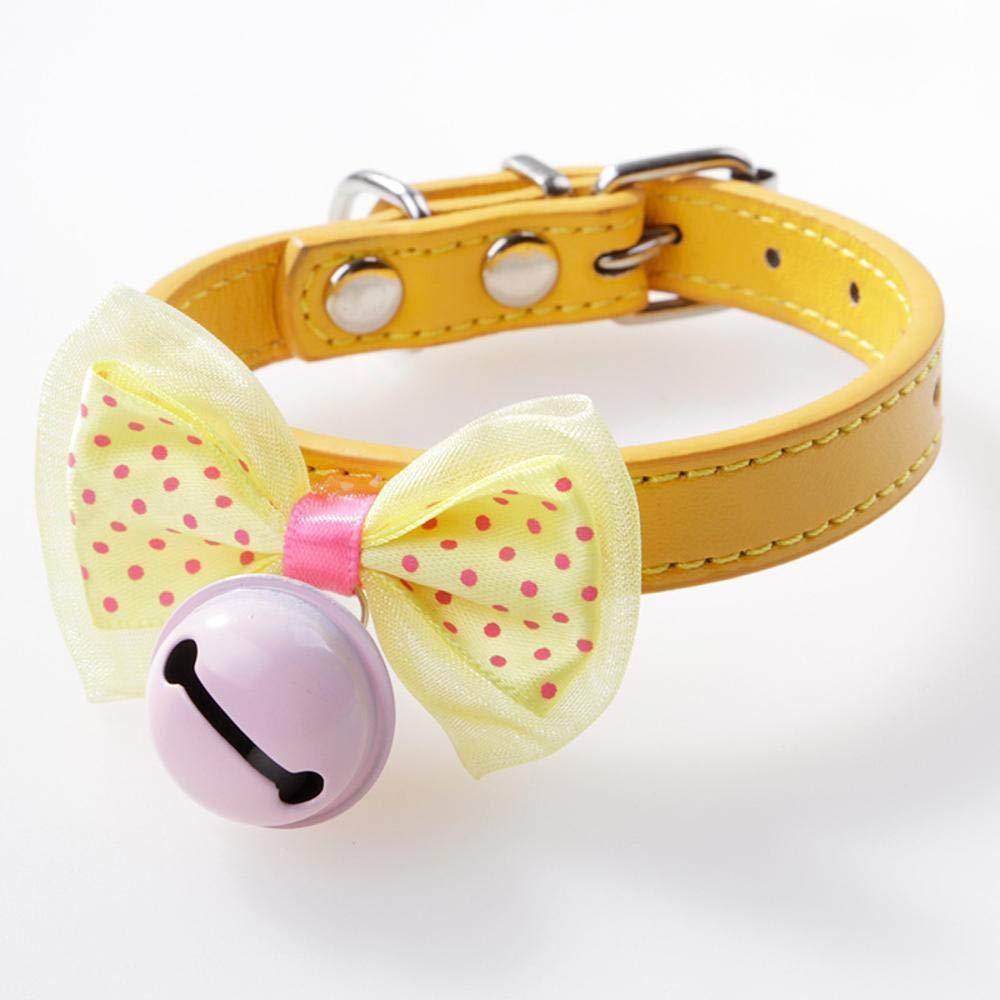 Daeou Collari per caniPunto dell'onda dell'onda dell'onda coloreata farfalla nodo campana collare di cane gatto f3f20e