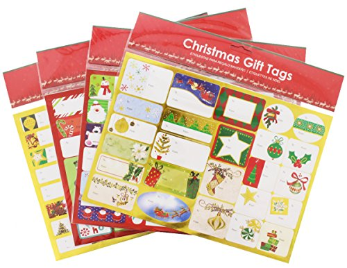 200 Christmas Foil Peel and Stick Holiday Labels and Gift Tag (Fab Tag)