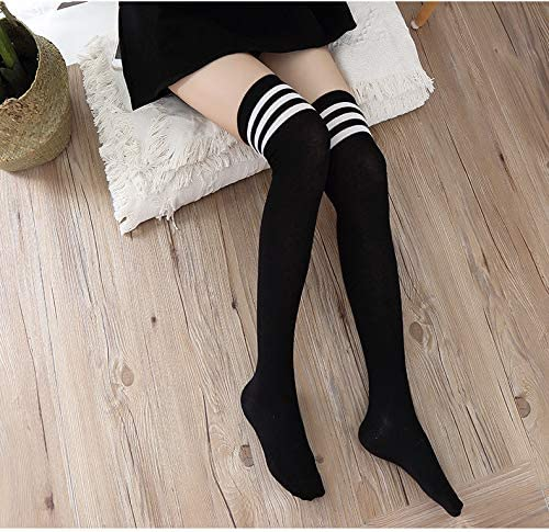 Over The Knee Socks Thigh High Stockings Cotton Extra Long Leg Warmers 2 Pairs
