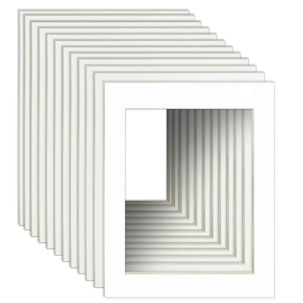 Schliersee Pack of 10 Large White 24x36 Picture Mats for 20x30 Photo with Core Cut Picture Frame Mats by Schliersee