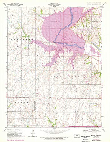 (YellowMaps Milford Dam KS topo map, 1:24000 Scale, 7.5 X 7.5 Minute, Historical, 1955, Updated 1978, 26.93 x 20.85 in - Paper)