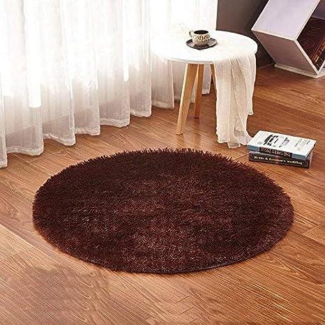 GRENSS Beige Alfombra Redonda alfombras Yoga cálido y ...