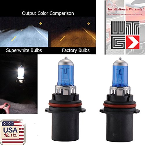 100w 9007 Light Bulb - WTG 9007 1 PAIR 100W Super White Xenon Halogen OEM Headlight Light Bulbs (Low/High Beam)