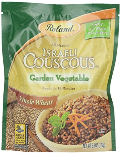 Couscous Vegetable (Roland Israeli Couscous, Whole Wheat Garden Vegetable, 6.3 Ounce)