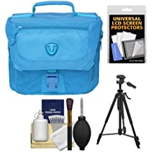 Tenba Vector 3 Digital SLR Camera Bag (Oxygen Blue) with Tripod + Accessory Kit