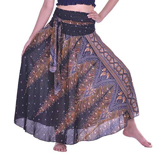Lofbaz Womens Long Bohemian Maxi Skirt Hippie Gypsy Boho Dress