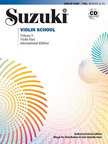 Suzuki Violin School (Asian Edition), Vol 3: Violin Part, Book & CD