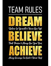Team Rules - Dream - Believe - Achieve: Motivational Company Gifts for Employees - Coworkers - Office Staff Members   Inspirational Teamwork Gift