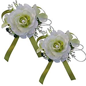 Arlai Artificial Wrist Corsage for Prom, Party, Wedding 2pcs/lot 14