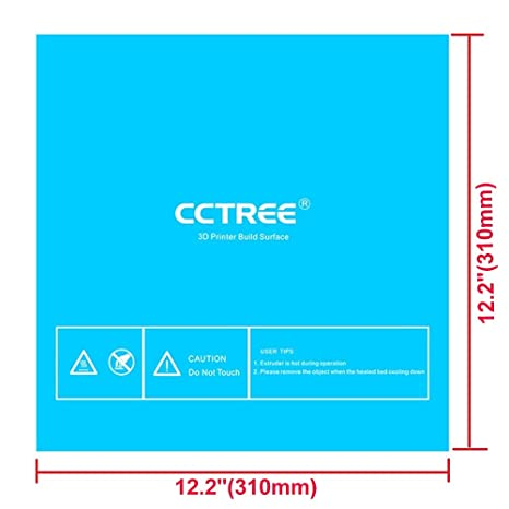 Maker Select Plus,Ultimate Prusa i3 200x200mm Pack of 3 CCTREE 3D Printer Build Surface with 3M Sticker 3D Printer Heated Bed Sheet for 3D Printer Monoprice Maker Select V2