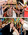 Cieovo 50 Pack Ribbon Fairy Wands Party Sticks Streamers with Bells Fairy Stick Wish Wands for Girl Birthday Favors Wedding-Waving Party (Champagne)