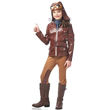 amazon com girls lady lindy aviator halloween costume clothing