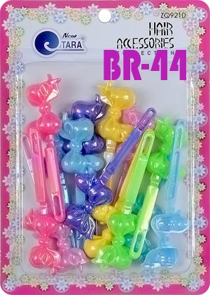 Tara Girls Super Cute Self Hinge Plastic Mulit Design Hair Barrettes Selection