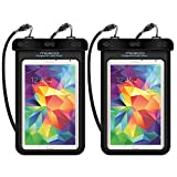 Universal Waterproof Case, MoKo [2-Pack] Dry Bag Pouch for iPad Mini 4/3/2, Samsung