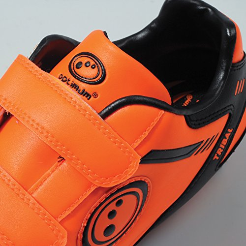 Optimum Jungen Tribal-Velcro Moulded Stud Fußballschuhe Orange (Fluro Orange/Black)