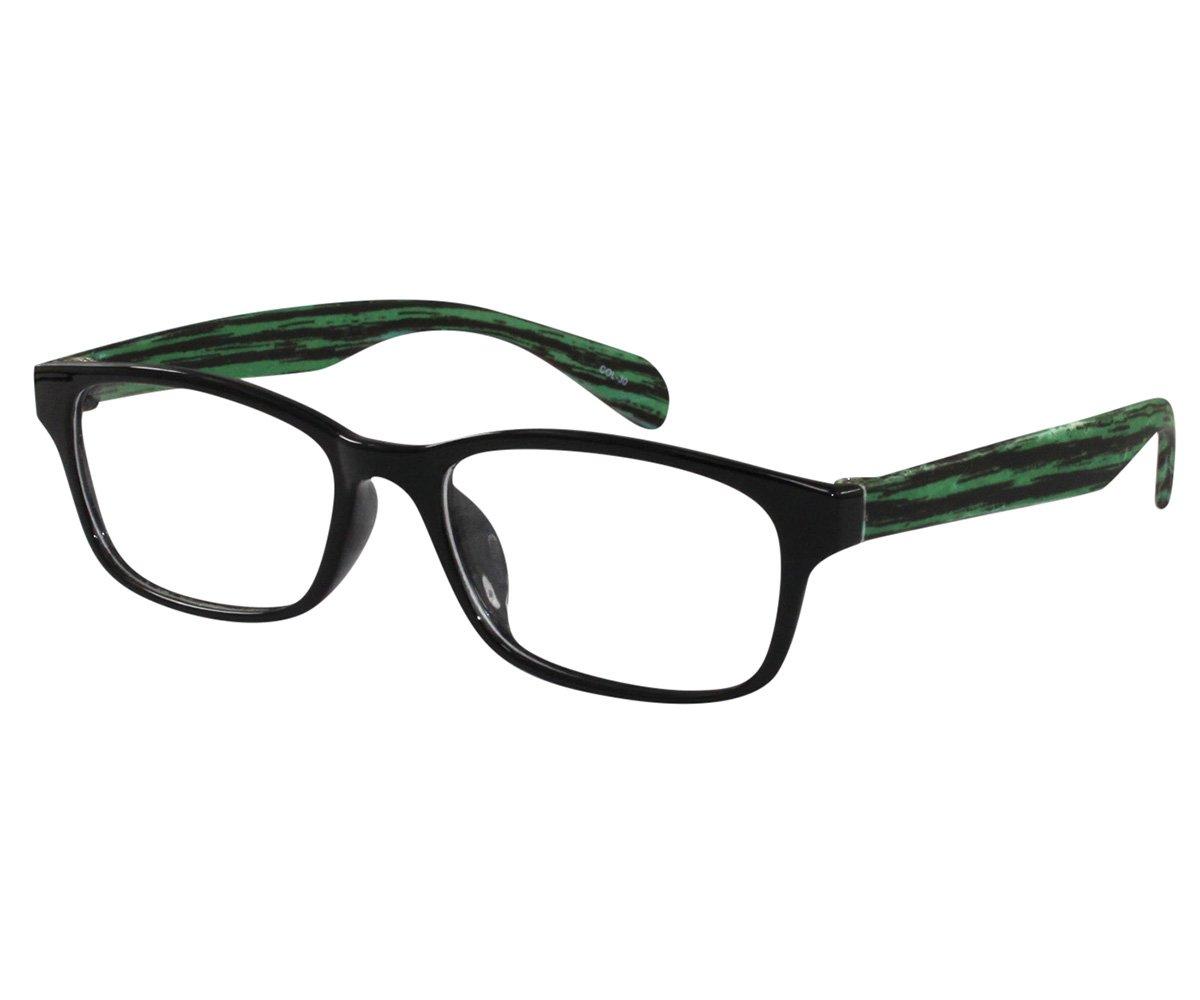 7cf0e61a832 Amazon.com   Ebe Bifocal Sporty Black Green Ear Pieces Men Women Unisex  Flex Material Light Weight RX +2.75   Beauty