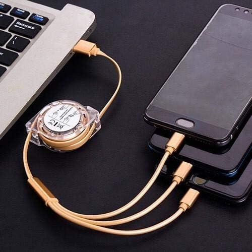 AllCharge miniSync Retractable Jet Black BoxWave Portable USB Cable for Lezyne Macro Plus GPS Lezyne Macro Plus GPS Cable