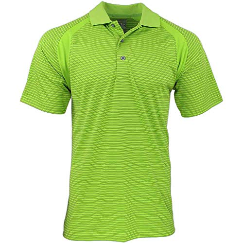 Tonal Jersey Stripe Polo - PAGE & TUTTLE Mens Cool Elite Tonal Stripe Jersey Golf Casual Polo Green L