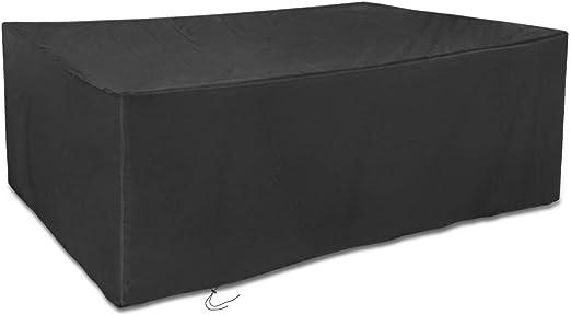 200x160x70cm Rettangolare Dokon Copertura Mobili Giardino Impermeabile Telo Protettivo per Tavolo - Nero Anti Vento Sole Neve Tessuto 420D Oxford Copertura per Tavolo da Esterno