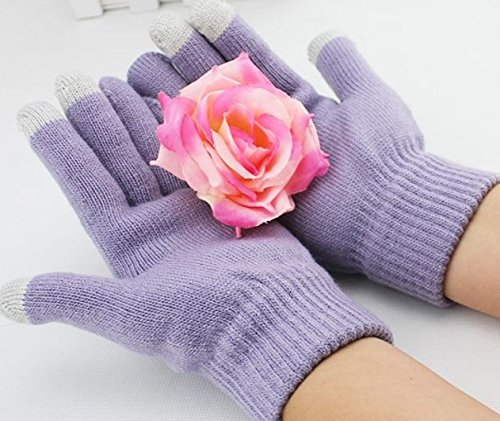 ONX3 Wiko Goa (Light Purple) Universal Unisex One Size Winter Touchscreen Gloves for All ()