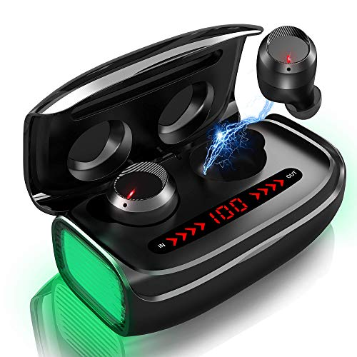 Wireless Earbuds, Bluetooth 5.0 Wireless Headphones 170H Playtime with 3000mAh Charging Case [As Power Bank] Deep Bass in-Ear Wireless Headphones CVC 8.0 Noise Canceling Bluetooth Earbuds with Mic