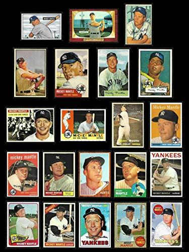 2020 Topps 1952 Reprints - Mickey Mantle (21) Card Baseball REPRINT Lot includes Topps 1952, 1953, 1956, 1957, 1958, 1959, 1960, 1961, 1962, 1963, 1964, 1965, 1966, 1967, 1968, 1969, Bowman 1951,1952,1953,1954,1955 (Yankees)