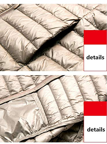 Bianco Impermeabile Piumino Piuma Leggero Lungo E Gray Morbido 90 Invernale Sottile Dotoo D'oca Donna Y7dYTq